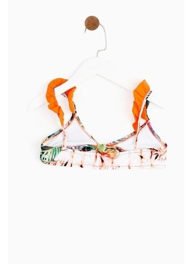 Lia Lea Lia Lea Kız Çocuk Tropik Bikini 19SSLLKN102 Renkli